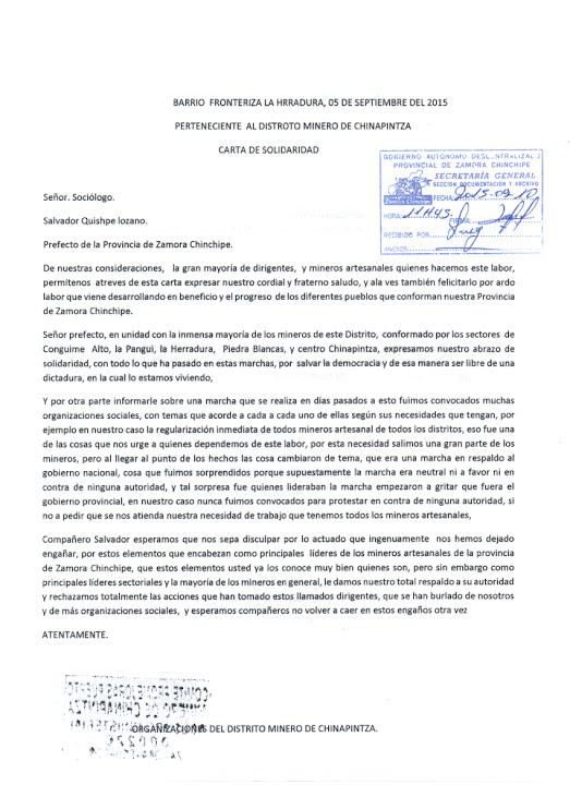 MINEROS DE CHINAPINTZA NO FUERON CONVOCADOS PARA MARCHAR