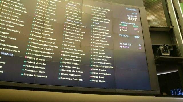 Veja quais deputados evangélicos votaram pela prisão de Daniel Silveira