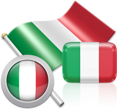 Italian flag icons pictures collection