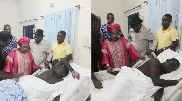 GEJ and Patience visit corporal who was shot during an attack on their house