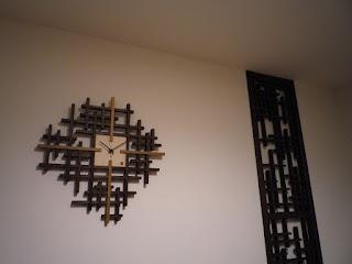 ランダムチェッククロック インテリアの一例 オーダーも承ります tartan clock