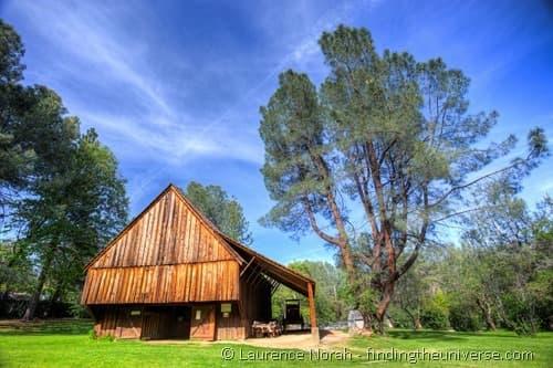 Barn in old Shasta Town California