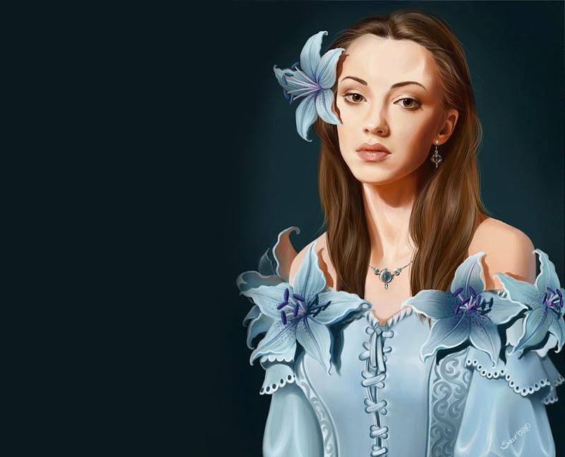 Beauty In Blue Flowers, Magic Beauties 3