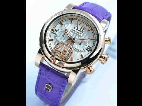 Jual jam tangan Aigner romawi ring polos  purple