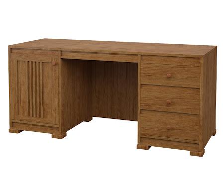 Hillside Executive Desk in Como Maple