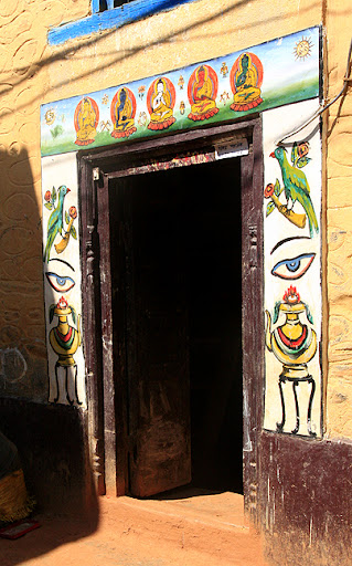 buddhist house markings in Nepal