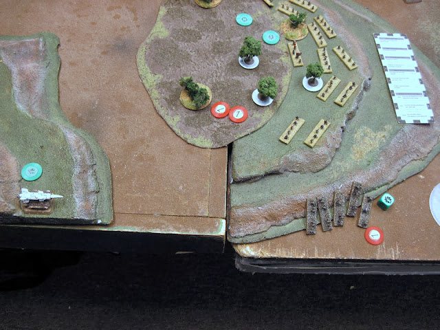 The Deathstrike advances and lays a BM on the Death Company.