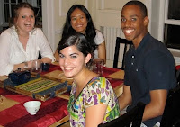 RICC undergrad researchers, end of the semester gathering in summer 2010 (from left to right: Magali Lemahieu, Suyi Liu, Franklin Eneh, front: Aysha Abraibesh)