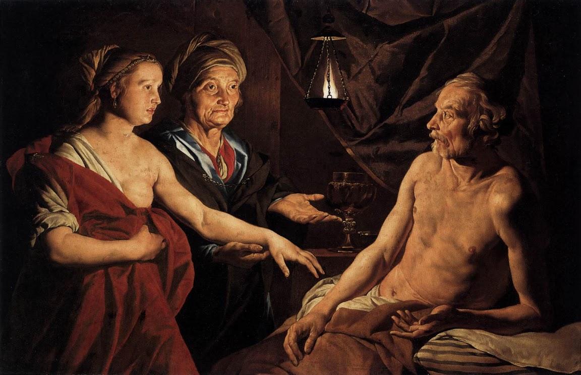Matthias Stom - Sarah Leading Hagar to Abraham