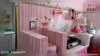 Konsep dapur dengan warna pink