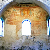 107. Apsidal Conch. Frescos of VIII (?) Century. Church of Santa Maria foris portas. Castelseprio. Province of Varese. 2013