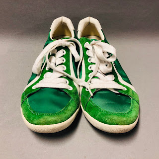 Prada Green Nylon Sneakers