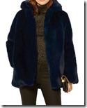 Karen Millen Navy Faux Fur Jacket