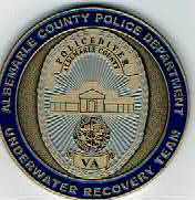 Photo: Albemarle County Police, Underwater Recovery Team, Challenge Coin
