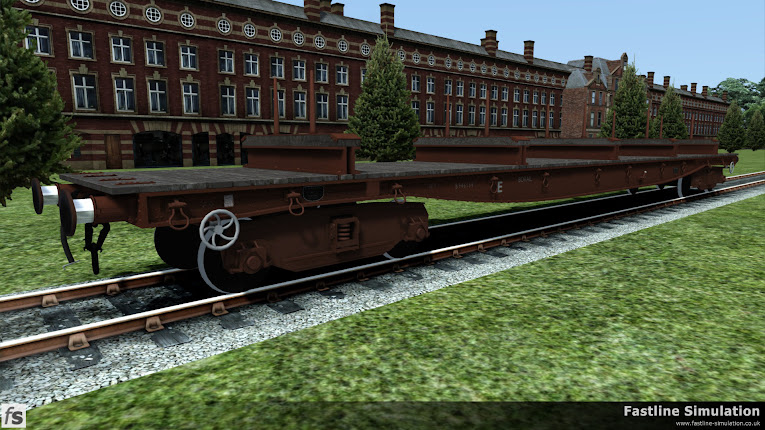Fastline Simulation: An ex works dia. 1/483 BORAIL is seen outside the works in fitted freight brown livery.