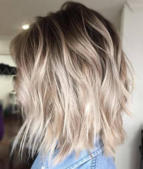 Balayage Short Hair Blonde 2018 1