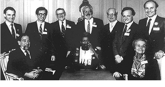 Wole Soyinka with other Nobel Laureates in 1986(Throwback Photo)