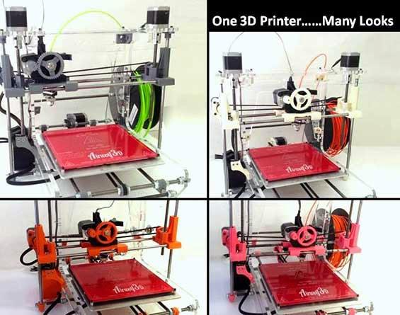 mesin printer 3d dari 4 sudut