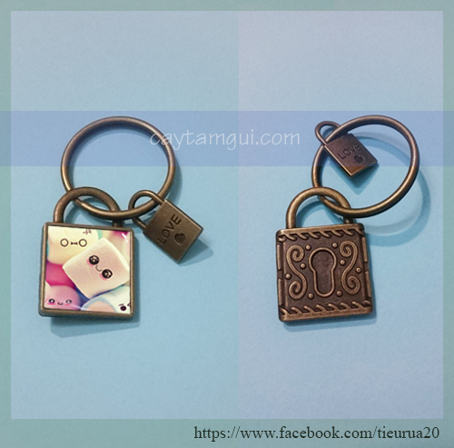 Móc khóa in hình handmade