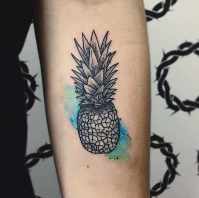 Esta aquarela de abacaxi