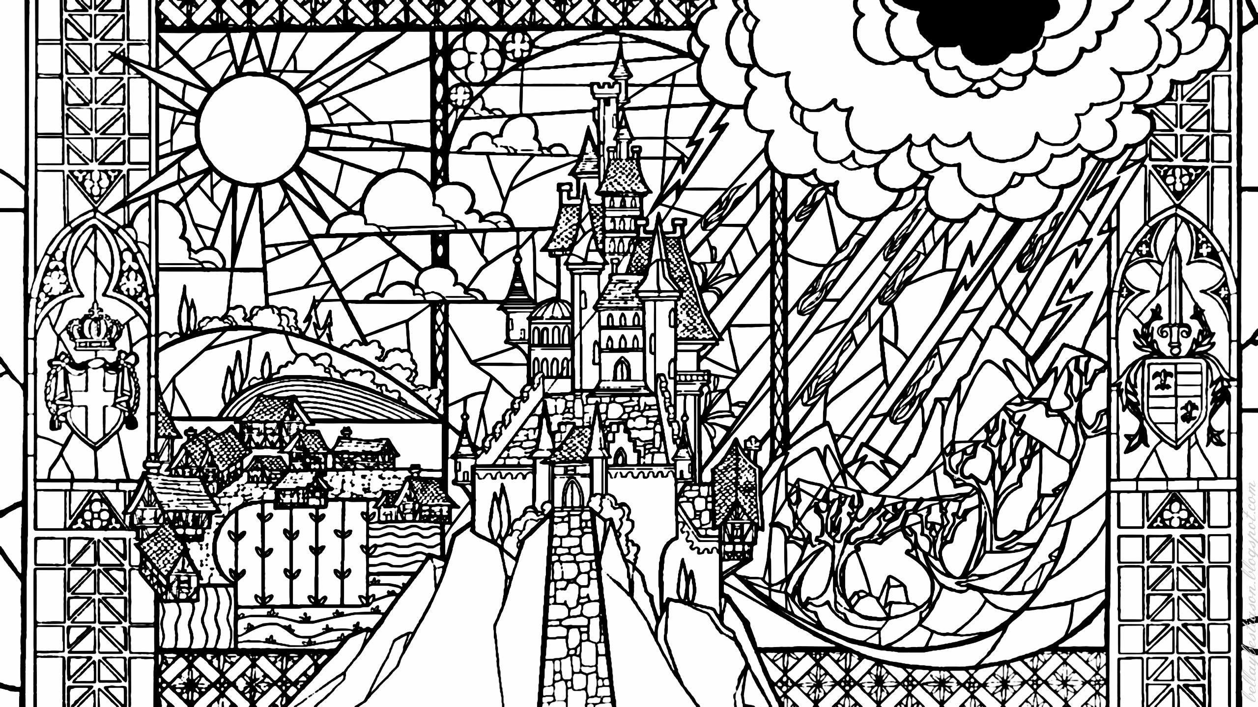 Famoso Vidrieras Navidad Para Colorear Elaboración - Dibujos Para ...