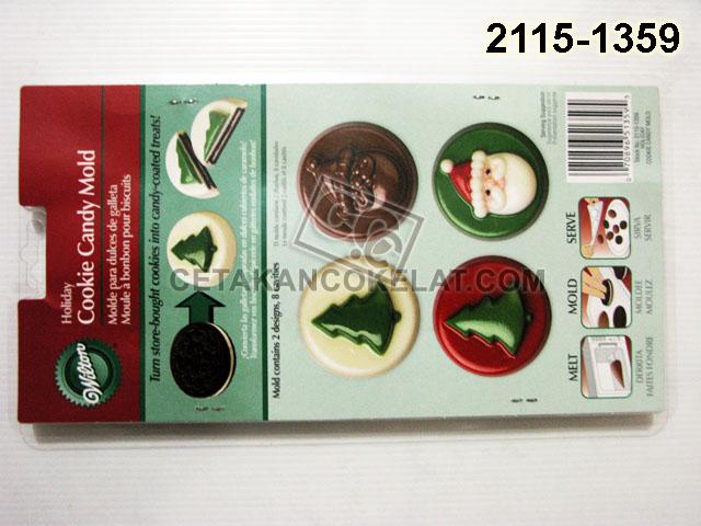 Cetakan Coklat Santa Holiday Natal Oreo
