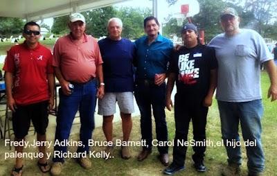 Fredy (el ayudante de bruce Barnett), Jerry Adkins, Bruce Barnett, Carol NeSmith, su servidor, y Richard Kelly..jpg