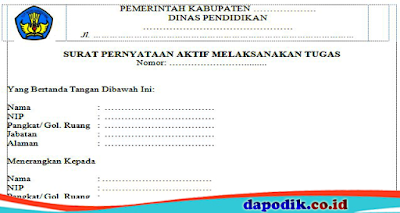 Surat Pernyataan Aktif Melaksanakan