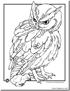 dibujos de buhod en blanco y negro (8)