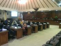 Rapat Paripurna 1 DPRD Kab. Rembang membahas Raperda Pertanggung jawaban APBD tahun 2015