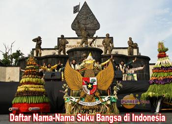 Daftar Nama-Nama Suku Bangsa di Indonesia, Suku bangsa Indonesia