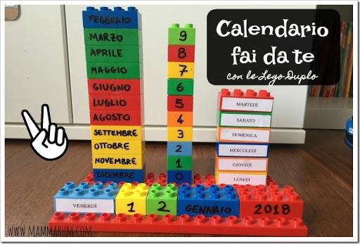 Famoso Mammarum: Calendario fai da te con le Lego Duplo RQ95