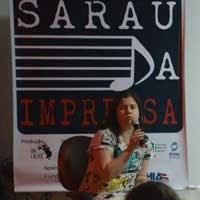 Amanda Aouad no Sarau da Imprensa - ABI - 2016