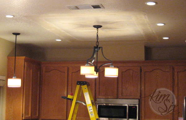 Replacing flourescent lamp with light fixtures - Removing A Fluorescent Kitchen Light Box - The Kim Six Fix