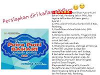 Ikuti pemilihan putra putri bahari Kabupaten Rembang tahun 2016
