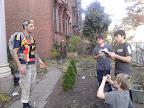 Boys interview Occupy Sandy organizer