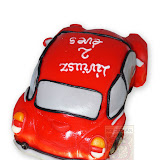 36. kép: Formatorták (fiúknak) - Piros Bogár autó