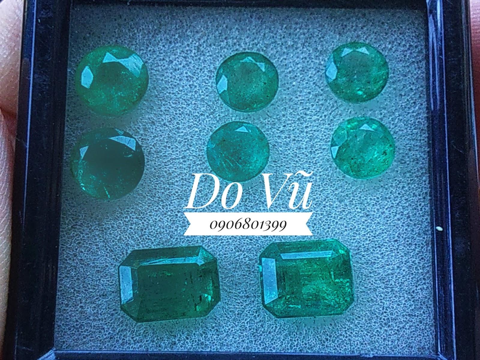 Đá Ngọc Lục Bảo thiên nhiên, Natural Emerald tròn, chất ngọc