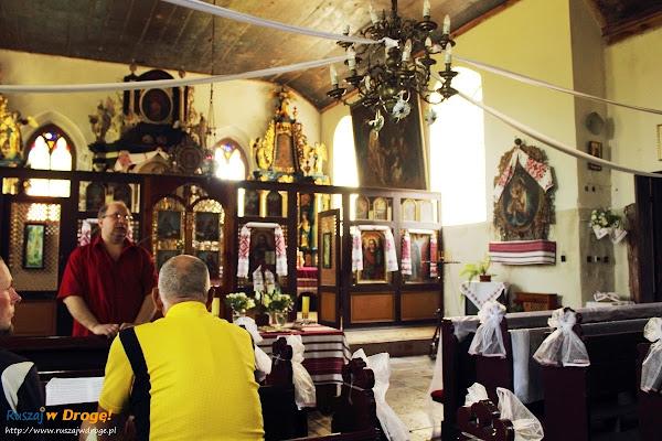 wnętrze kościoła w Cyganku