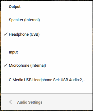 Google Hangouts does not support a microphone from Microsoft