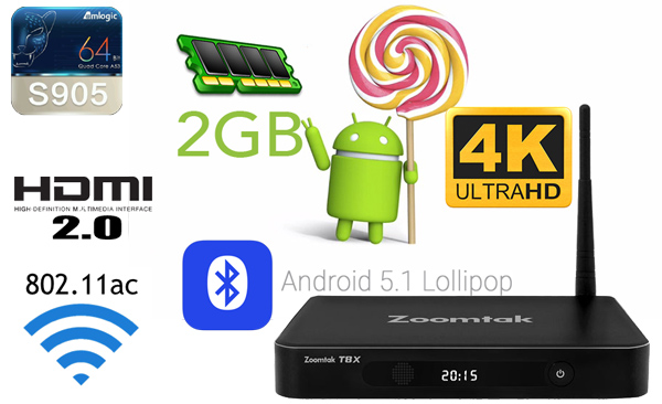 android tv box zoomtak t8x