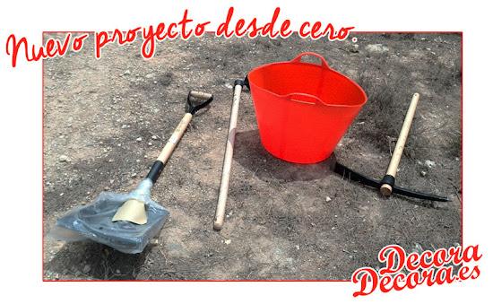 Herramientas necesarias para limpiar un terreno.
