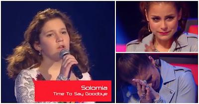 Menina Emociona Todos Ao Cantar Time To Say Goodbye E Leva Jurada Do The Voice Kids Às Lágrimas