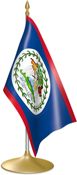 Belizean table flags - desk flags