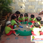 SUN BATHING ACTIVITY BY PLAYGROUP SECTION (2017-18) AT WITTY WORLD, BANGUR NAGAR