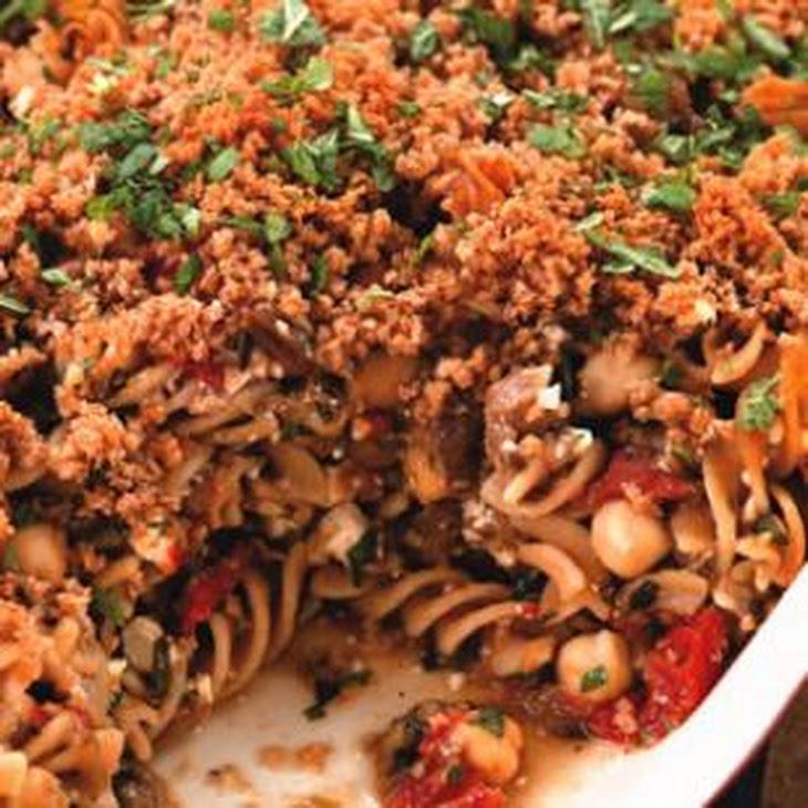 Eggplant & Chickpea Baked Pasta Recipe | Yummly