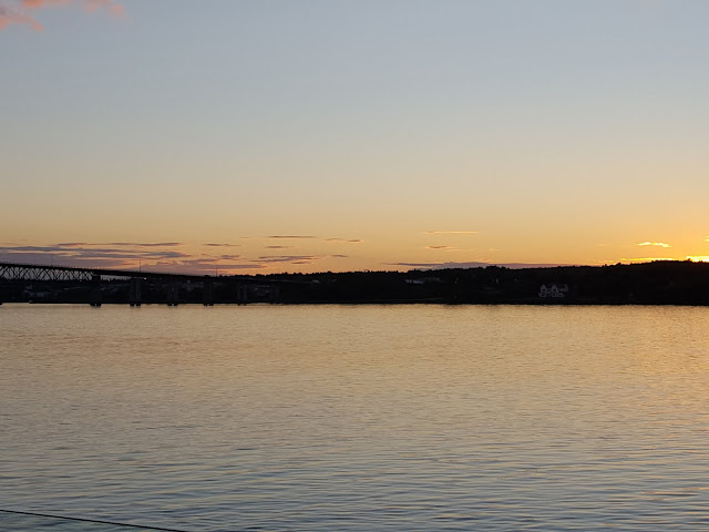 Sunset on the mighty Miramichi River. Where to Stay - and Eat - in Miramichi, New Brunswick: the Rodd Hotel and Resort, and their fantastic 1809 Restaurant
