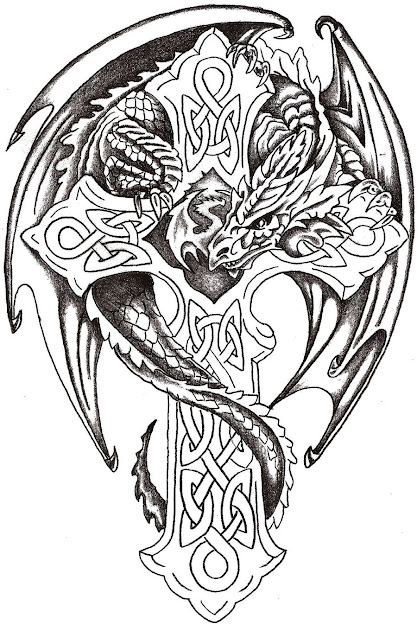Dragon Cross Tattoo