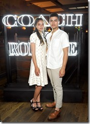 HOLLYWOOD, CA - MARCH 30:  Actor Sasha Lane (L) and Sergio Darcy Lane attend the Coach & Rodarte celebration for their Spring 2017 Collaboration at Musso & Frank on March 30, 2017 in Hollywood, California  (Photo by Donato Sardella/Getty Images for Coach)