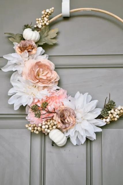 how to make a modern flower wreath